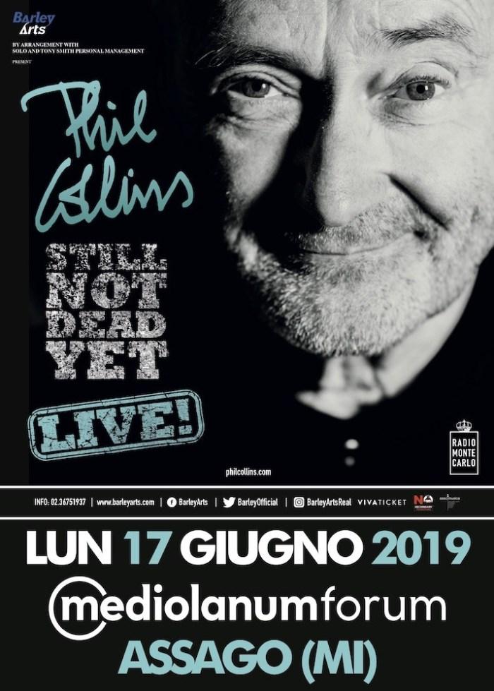 Phil Collins arriva il 17 giugno 2019 per l'unica data a Milano