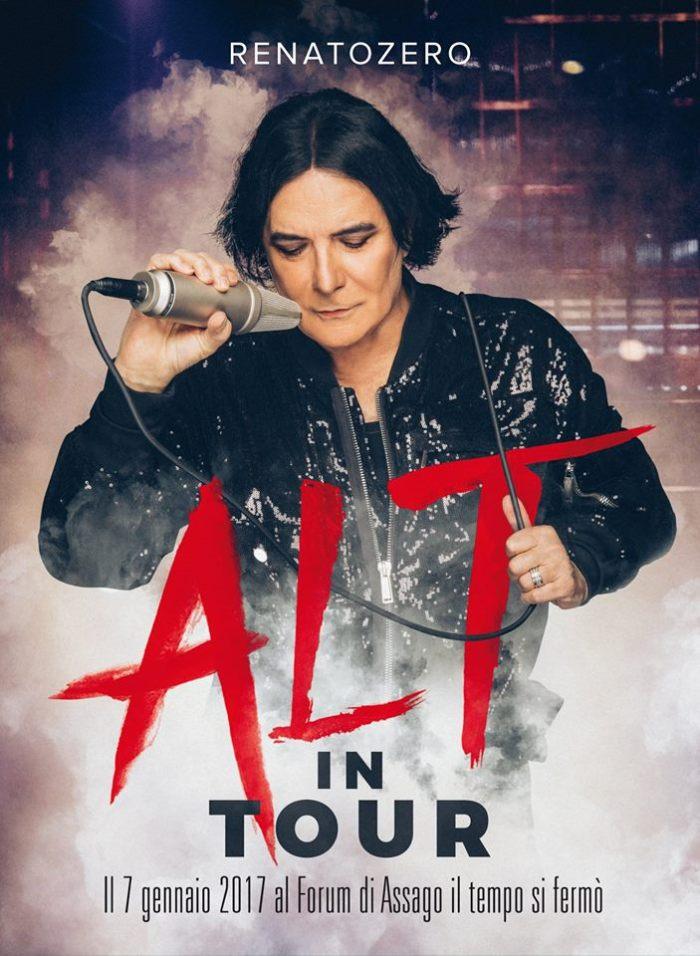 """Cover copertina album live """"Alt In Tour"""" Renato Zero"""