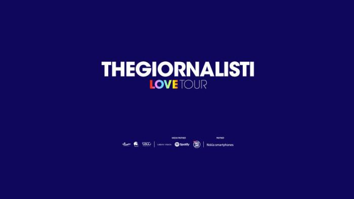 """Thegiornalisti raddoppiano Milano, Roma e Acireale per il """"Love Tour 2019"""""""