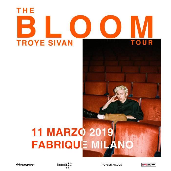 """Troye Sivan arriva in Italia per un unico concerto del suo """"The Bloom Tour"""" l'11 marzo a Milano"""