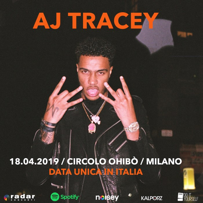 AJ Tracey concerto 18 aprile Milano