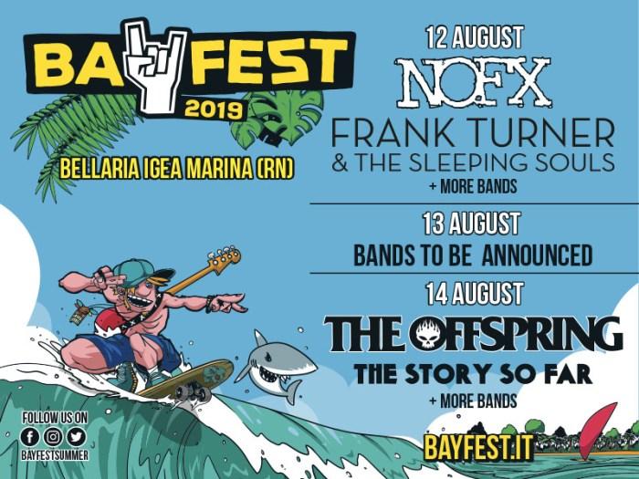 The Story So Far e Frank Turner nella lineup del Bay Fest 2019 dal 12 al 14 agosto