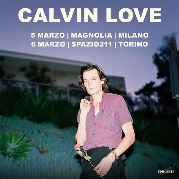 "Calvin Love in concerto a Milano e Torino con l'album ""Highway Dancer"""