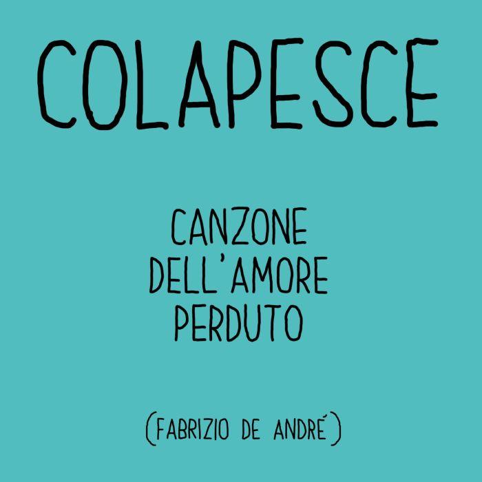 """copertina """"Canzone dell'amore perduto"""" Colapesce"""