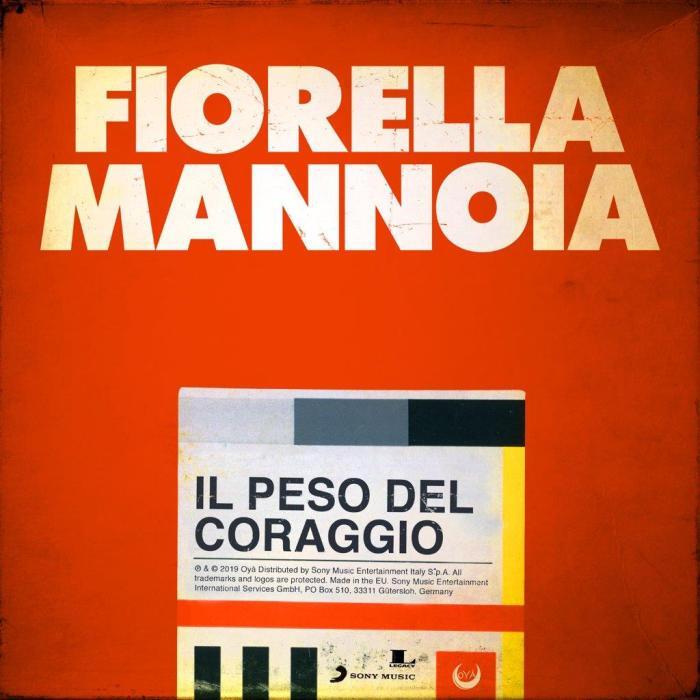 """Fiorella Mannoia copertina singolo """"Il Peso del Coraggio"""""""
