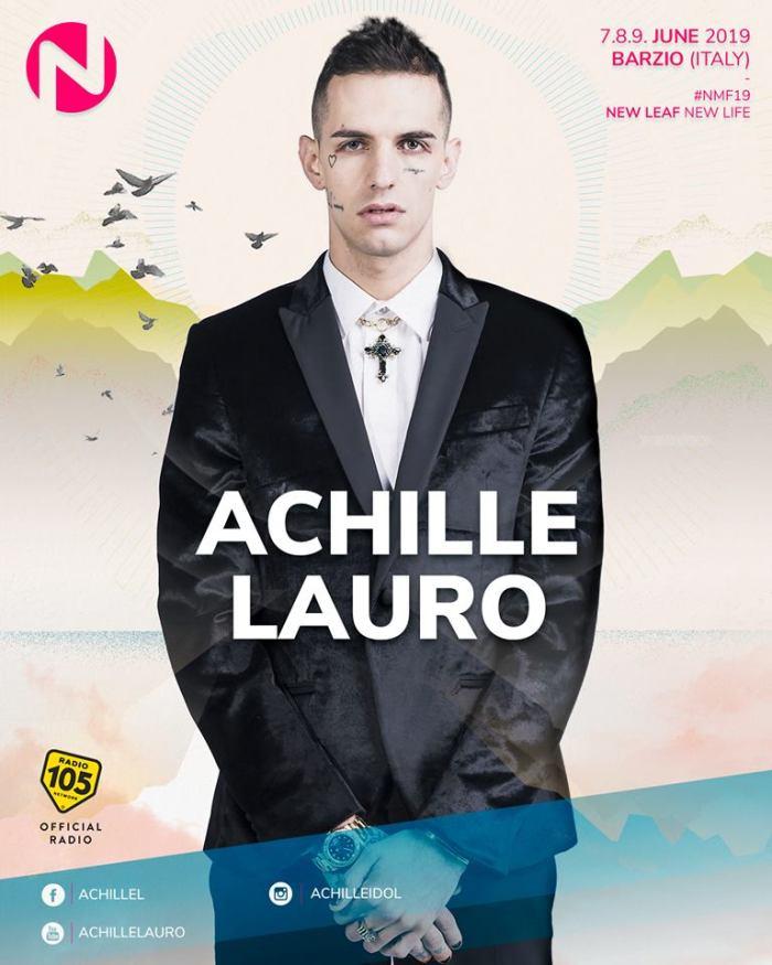 Achille Lauro dal vivo al Nameless Music Festival 2019