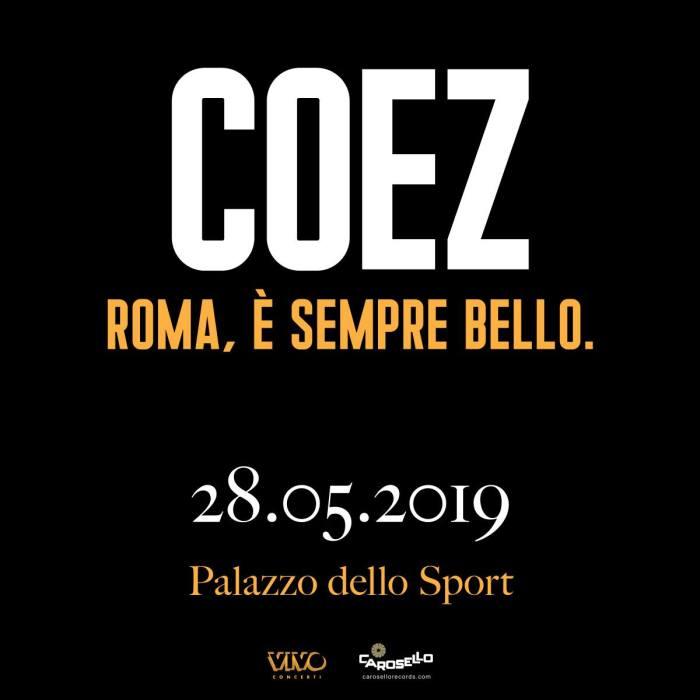 Coez concerto 28 maggio Roma