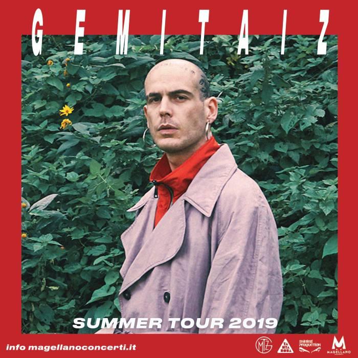Gemitaiz in concerto il 4 luglio al Rock In Roma e l'11 luglio al Carroponte di Milano
