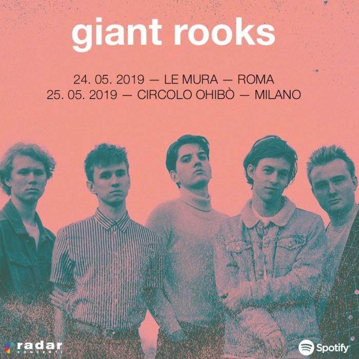 La band tedesca Giant Rooks arriva in Italia per due concerti a Roma e Milano a maggio