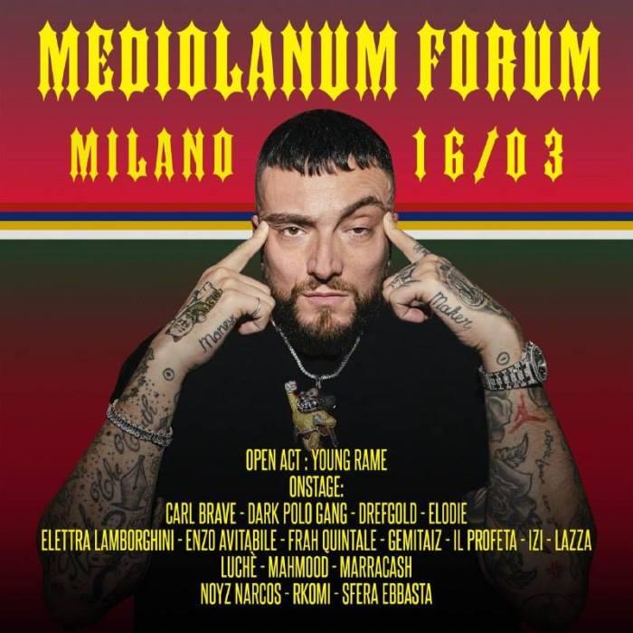 ospiti concerto 16 marzo Forum Milano Guè Pequeno