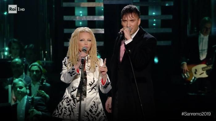 Patty pravo e Briga sul palco di Sanremo giovedì 7 febbraio 2019