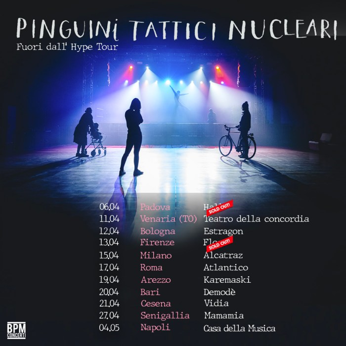 Sold out a Padova e Firenze per i Pinguini Tattici Nucleari