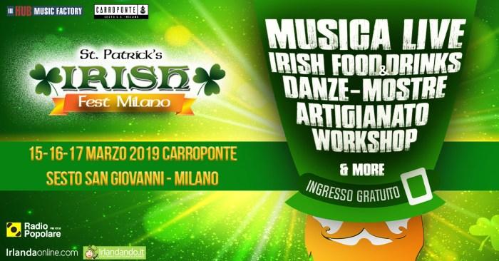 St. Patrick's Irish Fest dal 15 al 17 marzo al Carroponte di Milano