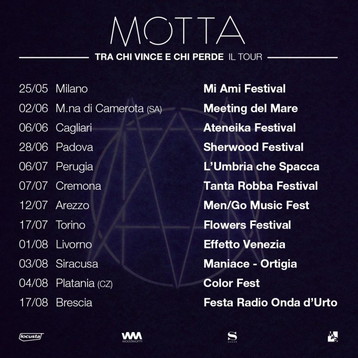 """Motta le date del tour """"Tra Chi Vince e Chi Perde"""""""