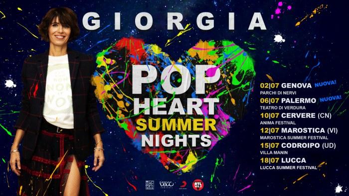 Giorgia in concerto a luglio a Genova e Palermo