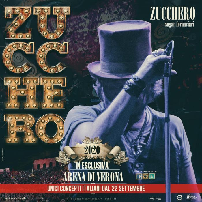 Zucchero,10 concerti dal 22 settembre all'Arena di Verona