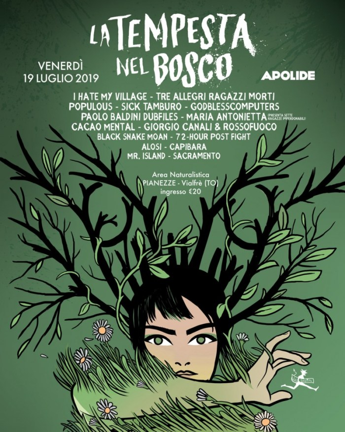 """""""La Tempesta Nel Bosco"""" locandina 19 luglio Apolide"""