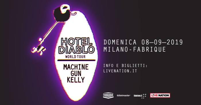 Machine Gun Kelly l'8 settembre in concerto al Fabrique di Milano