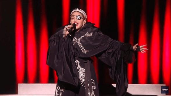 Madonna dal vivo all'Eurovision Song Contest 2019 a Tel Aviv