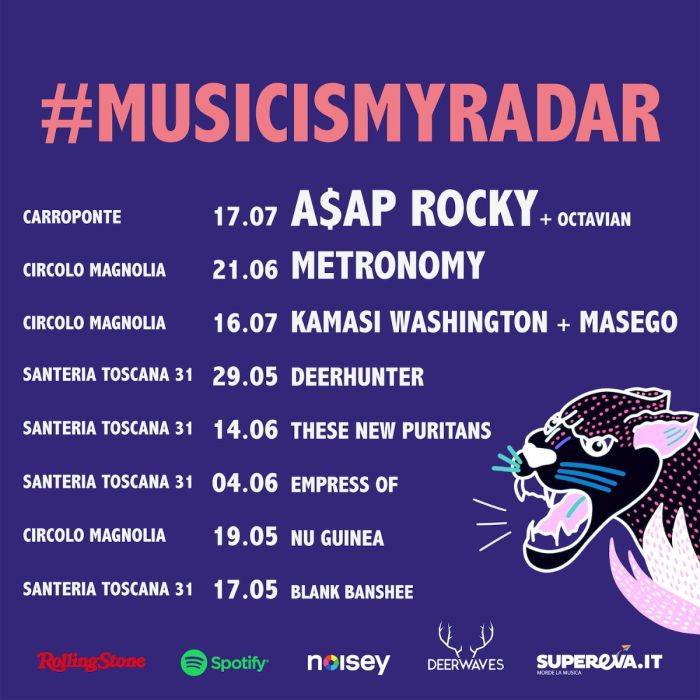 Music Is My Radar rassegna musicale a Milano da maggio a luglio