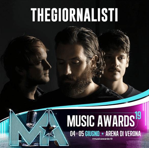 Thegiornalisti ai Music Awards 2019