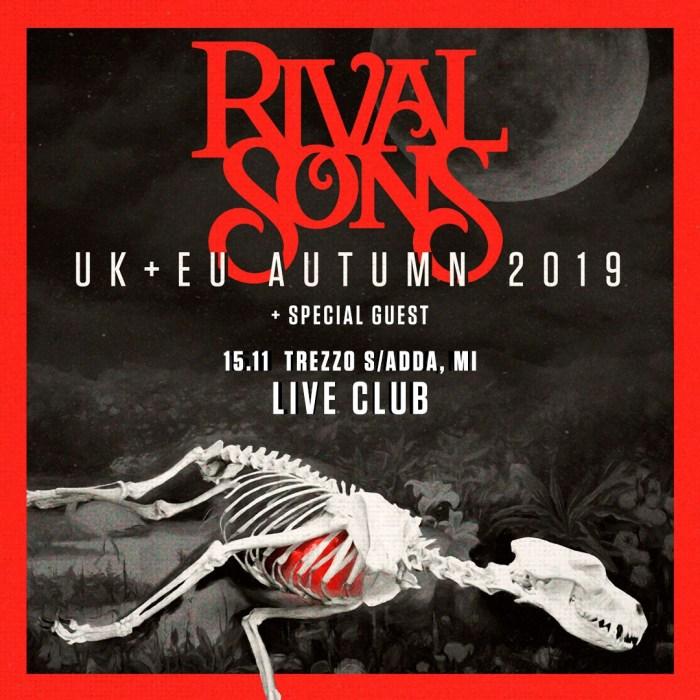 Nuova data il 15 novembre al Live Club di Trezzo sull'Adda per i Rival Sons