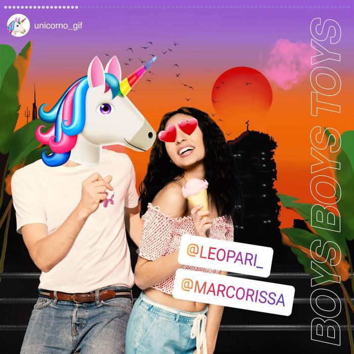 """Boys Boys Toys copertina singolo """"Unicorno Gif"""" Leo Pari Marco Rissa Musella Thegiornalisti"""