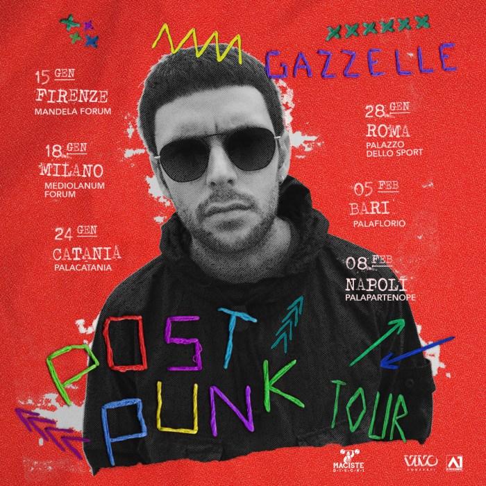 """Le date del """"Post Punk Tour"""" di Gazzelle"""
