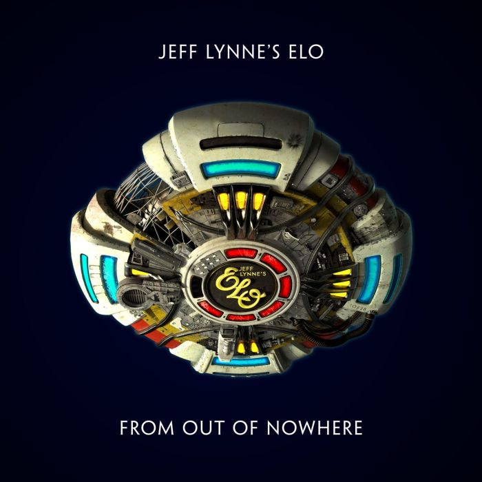 """Jeff Lynne's Elo copertina album """"From Out Of Nowhere"""""""