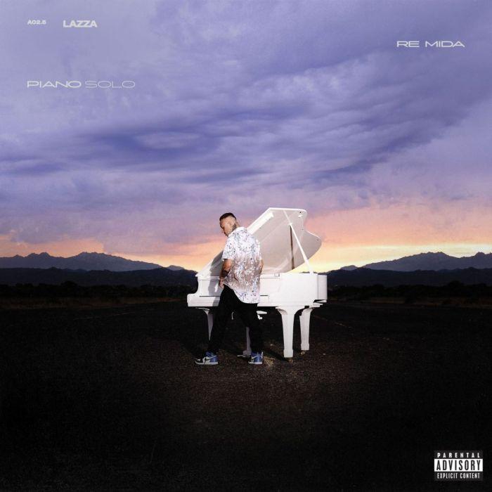"""copertina album """"Re Mida (Piano Solo)"""" Lazza"""