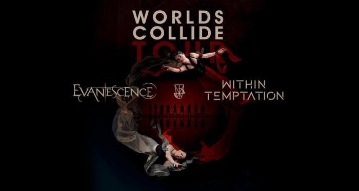 """Evanescence e Within Temptation insieme il 14 aprile a Milano con """"World Collide Tour"""""""