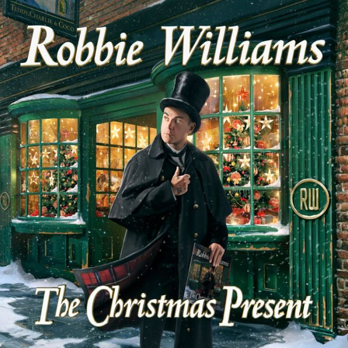 "Robbie Williams copertina album ""The Christmas Present"""