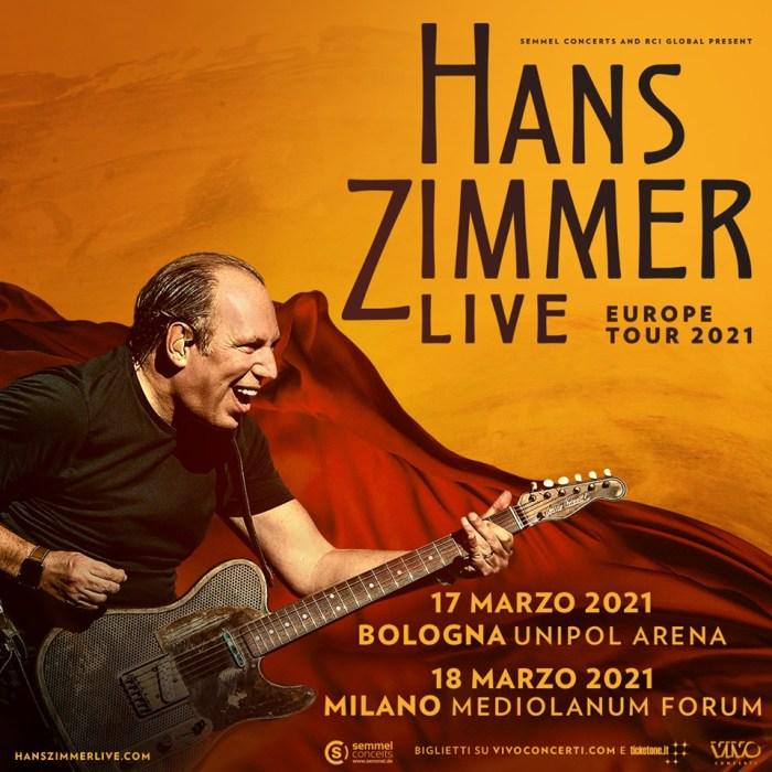Hanz Zimmer in concerto a Bologna e Milano a marzo 2021