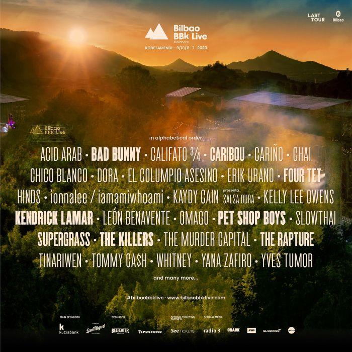 Lineup Bilbao BBK Live 2020