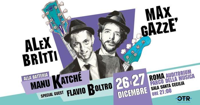 """Max Gazzè e Alex Britti in """"In missione per conto di Dio"""" il 26 e 27 dicembre all'Auditorium"""
