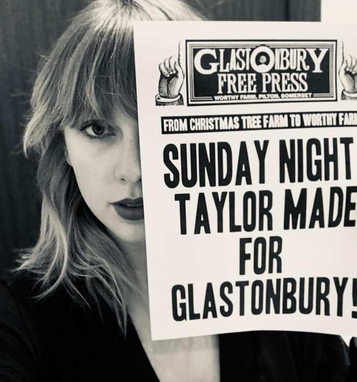 Taylor Swift headliner di Glastonbury 2020 domenica 28 giugno
