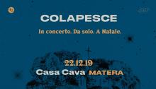 Colapesce concerto di Natale il 22 dicembre a Matera
