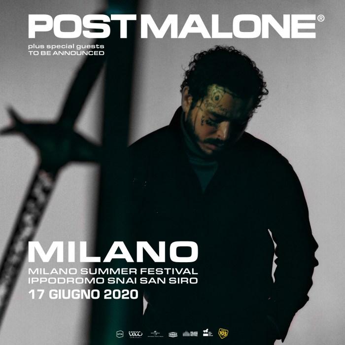 Post Malone 17 giugno Milano