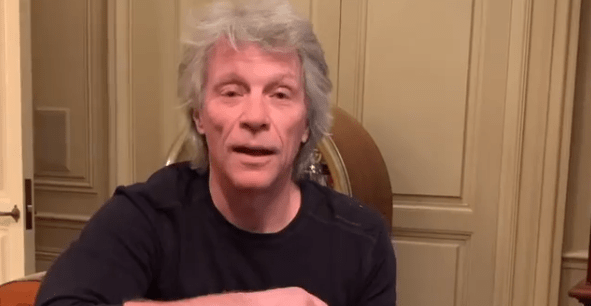"Jon Bon Jovi video quarantena ""livin' on a prayer"""