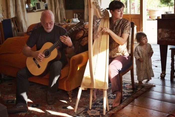 David Gilmour e la figlia Romany - Foto di Polly Samson