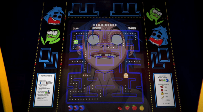 "Gorillaz video ""Pac-Man"""