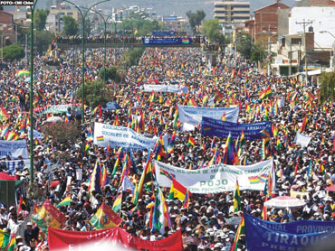 When Bechtel took control of the water supply in Cochabamba, social movements drove them, and the Bolivian dictatorship, out of the country