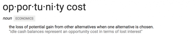 opportunity cost of the middle class