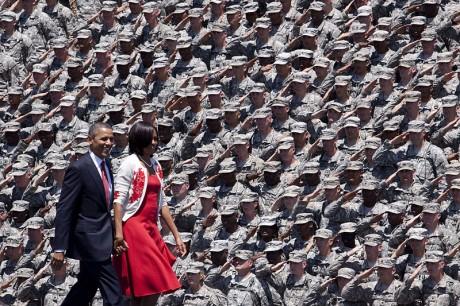 The U.S. Army Saluting Barack Obama