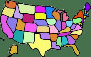 United States Fun Map - Public Domain