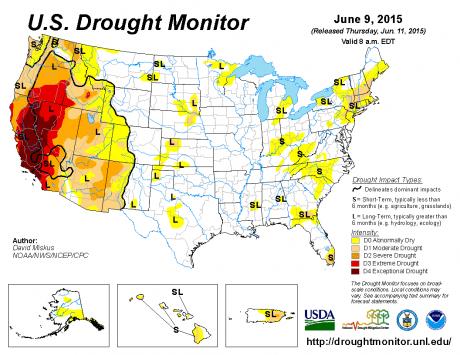 U.S. Drought Monitor June 9