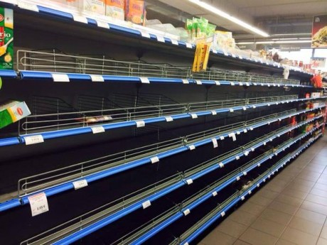 Supermarket In Greece - Photo posted by Vasilis Dalianis On Twitter