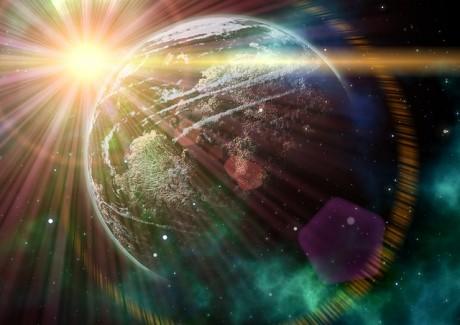 Lens Flare Earth - Public Domain