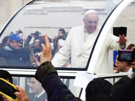Pope Francis In The Popemobile - Public Domain