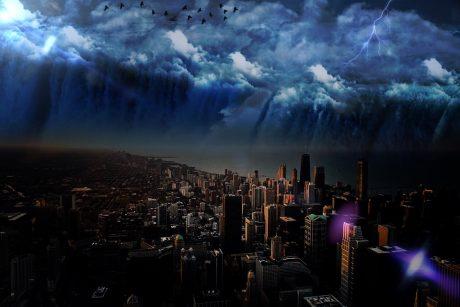 Apocalyptic Skyline - Public Domain
